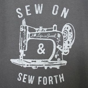 Life is Good 'Sew On & Sew Forth' Crusher Tee S
